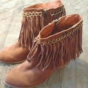Boho Suede Boots NWOT